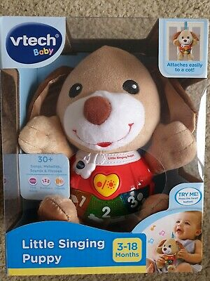 NEW Vtech Baby Little Singing Puppy Brown