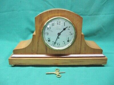 Professionally Restored Antique Seth Thomas Mantel Clock in Wooden Case; Mint