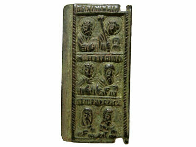 Beautiful Medieval Orthodox Bronze Icon Fragment+++Top Patina+++