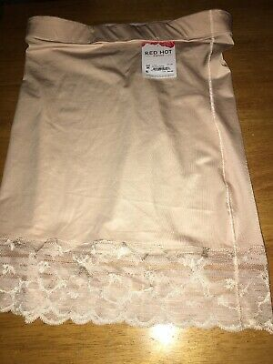 ASSETS Red Hot Label by Spanx Luxe And Lean Half Slip Size Medium Soft Nude Nwt