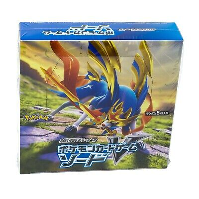 Pokemon Japanese Sword & Shield S1W Sword Booster Box Expansion Pack - USA