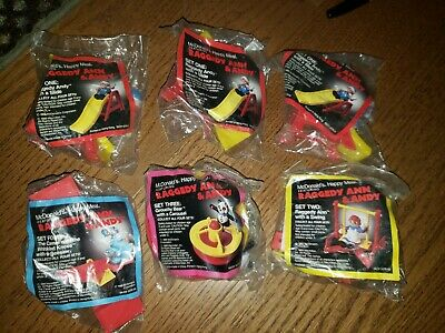 Complete Set Regional McDonalds 1989 Raggedy Ann and Andy Mint in Package