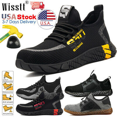 Mens Work Safety Shoes Steel Toe Boots Indestructible Bulletproof Light Hiker US