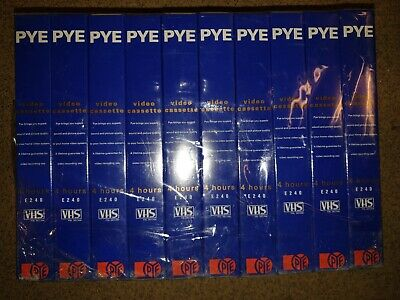 New In Packaging PYE E240 Blank VHS Video Cassettes