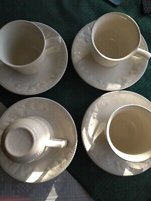 Bhs Lincoln Tea Cups & Saucers X 4 Collectable Tableware B&B