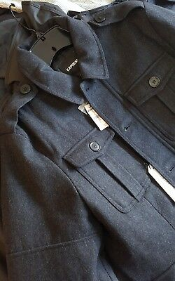 New Express Men's Military Coat/Jacket Nwt Size Xs Msrp $248