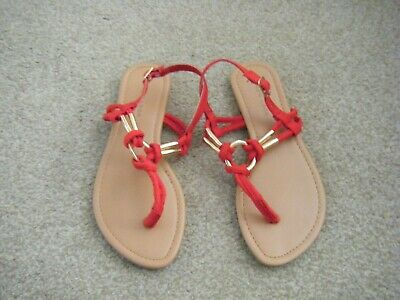 Girls Red Flat Sandals Size 2 from New Look