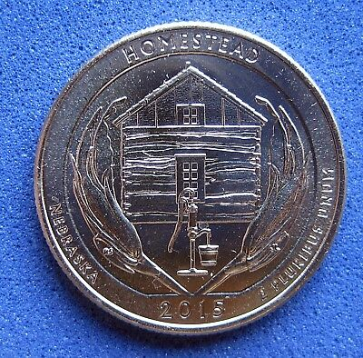 "USA  B/UNC  ""AMERICA THE BEAUTIFUL""  QUARTER   2015  ""HOMESTEAD"" Mint D"