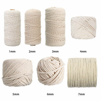 Thick Cotton String - MACRAME TWINE - Soft Parcel Crafting Gift
