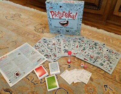 PICTUREKA Board Game Parker Brothers Game Pre-Owned Missing 3 Cards 2007 GUC