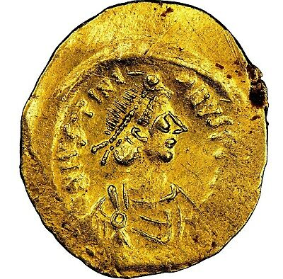 527-565 Ad Byzantine Justinian I The Great Gold Av Tremissis (15Mm,1.50 Gram,6H)