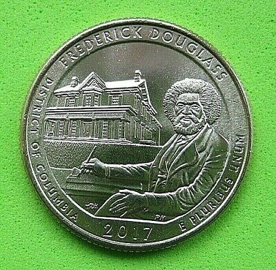 "USA  B/UNC ""AMERICA THE BEAUTIFUL QUARTER  2017 ""FREDERICK DOUGLASS "" Mint D *"