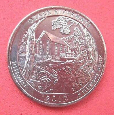 "USA  B/UNC  ""AMERICA THE BEAUTIFUL QUARTER  2017 "" OZARK RIVERWAYS""  Mint P *"