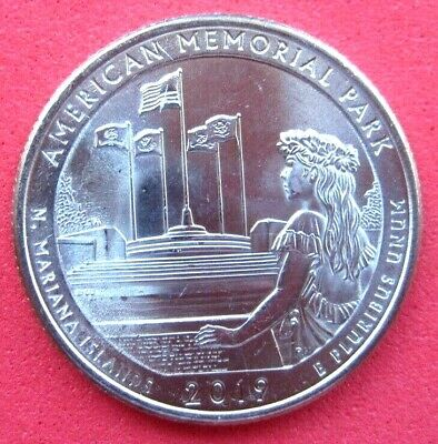 USA    B/UNC-AMERICA THE BEAUTIFUL QUARTER-2019- AMERICAN MEMORIAL PARK - Mint P