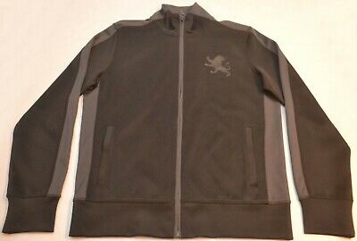 Mens Express Track Jacket Pewter Gray with Black Lion, Size Small, New w/o Tags