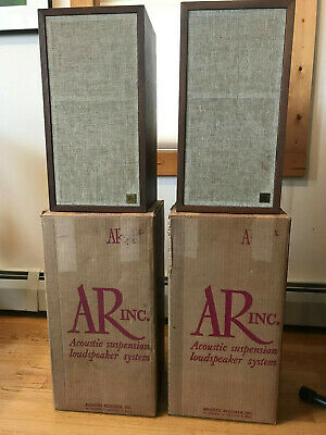Vintage AR-4x speakers Nearly Mint with Original Boxes and Instructions