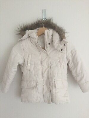 Witchery Kids Girls Ivory Puffa Jacket Size 4