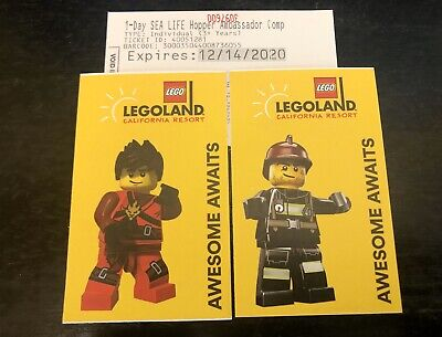 1x Legoland California Resort Ticket Hopper With Sea life Exp Dec 14 2020
