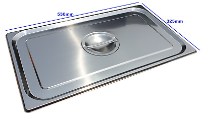 Stainless Steel Steam Pan Lid Cover 1/1 Size Bain marie Hot box Salad bar cafe