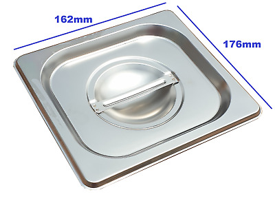 Stainless Steel Steam Pan Lid Cover 1/6 Size Bain marie Hot box Salad bar cafe
