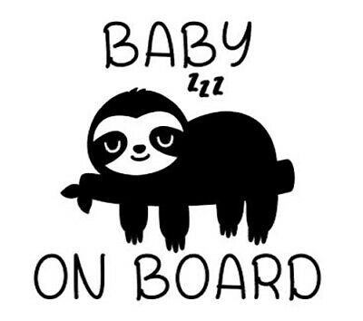 Baby Sloth Car Decal / Sticker, Baby on Board Decal / Sticker