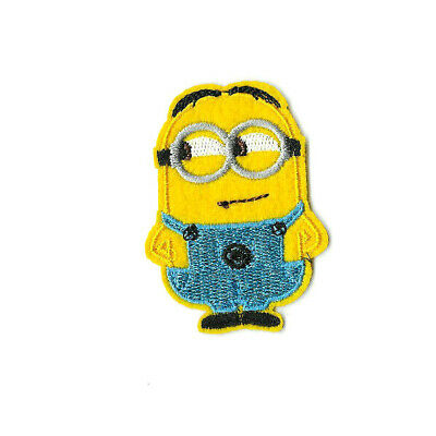 MINIONS DAVE Iron on / Sew on Patch Embroidered Badge Cartoon Simpsons TV PT560