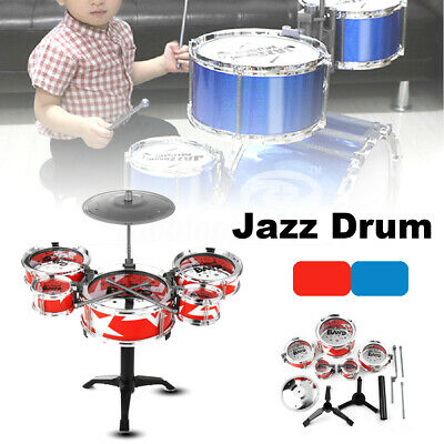 Kids Junior Jazz Drum Kit DIY Percussion Instrument Mini Band Play Toy Musical