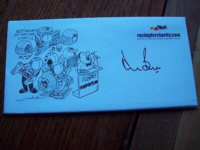 A Racingforcharity Envelope Signed By Derek Bell