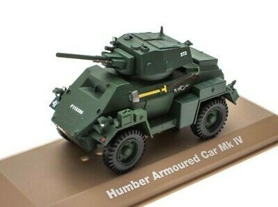 115 TANKS HUMBER ARMOURED CAR MK IV 1:43 ATLAS MODELA