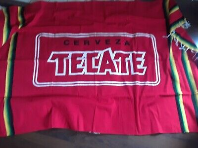 TECATE CERVEZA Beer Mexican Serape Blanket - Man Cave Bar Wall Hanging Decor