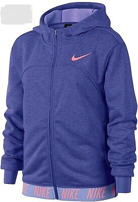 Girls Nike Dri Fit Jacket Voilet Size S 8-10Yrs