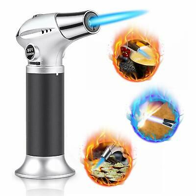 Blow Torch, Professional Kitchen Cooking Torch with Safety Lock Adjustable Flame