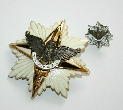 Set 2 Order Badge and Miniature Ukraine Army Star of Glory Security Special Unit