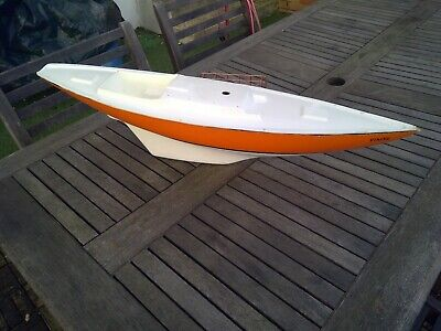 "Fiberglass Model Rc Sailboat Hull & Deck  29"" X 7""  Pond Yacht"