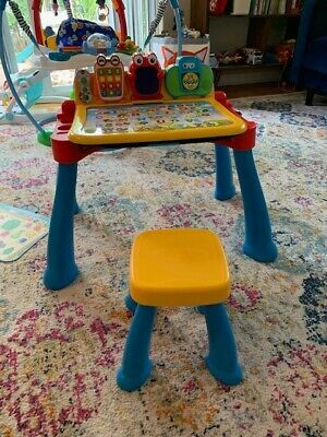VTech Activity Desk - Barely Used - WITH STOOL - Batteries Included