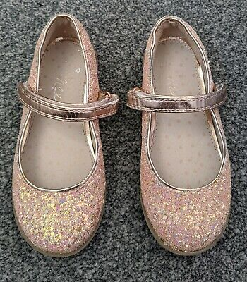 Girls Next pink sparkly glitter occasion shoes Infant Size 9