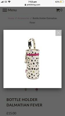 Pink Lining Dalmation Bottle Baby Holder