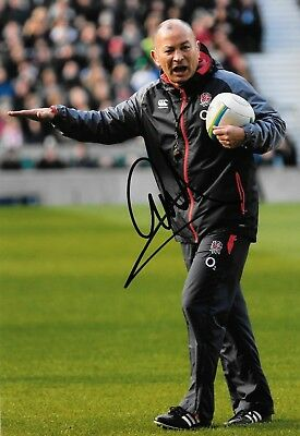 eddie jones england manager during training before match signed 12x8 photo