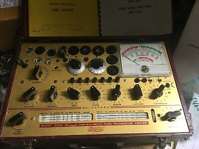 Hickok 800A Dynamic Mutual Conductance Tube-Transistor Tester Great Working