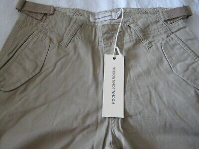 GIRLS BEIGE TROUSERS / CARGO PANTS AGE 10 JOHN ROCHA by DEBENHAMS NEW WITH TAG