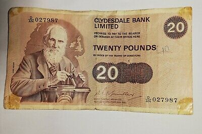 Rare 1981 Scottish £20 Note. ClydesDale Bank limited