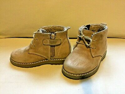 Boys Beige/Light Brown Ankle Boots by Next -size 7 (24)