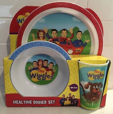The Wiggles Mealtime Dinner Set - Plate, Bowl and Cup