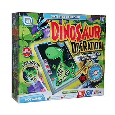 Dinosaur Operation Kids Buzzer Steady Hand Family Board Game 2-4 Player Fun