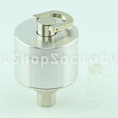 Powder Grinder 3 PC Metal Spice Hand Mill Funnel w/ Threaded Vial - USA Seller