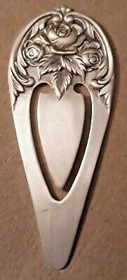 S. Kirk and Son Sterling Silver Repoussé Book Mark