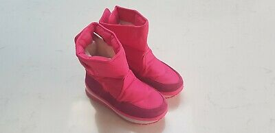 Girls Rubber Duck Snow Boots SnowJoggers Ski UK size 12 VGC