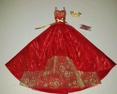 DRESS BARBIE DOLL  PRINCESS OF THE NILE DOTW GOLD /& WHITE GOWN FITS MODEL MUSE