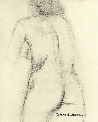 Nude Female CHARCOAL LIFE DRAWING Figure Life Gesture Sketch Realism Naked NR