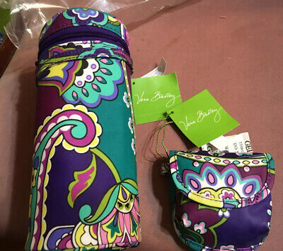NWT Vera Bradley Bottle Caddy insulated carrier + pacifier pod in Heather NEW